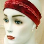 Medina - Stirnband mit Rüschen + Glitzerfaden